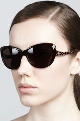Roberto Cavalli Pointed Temple Sunglasses - Lyst
