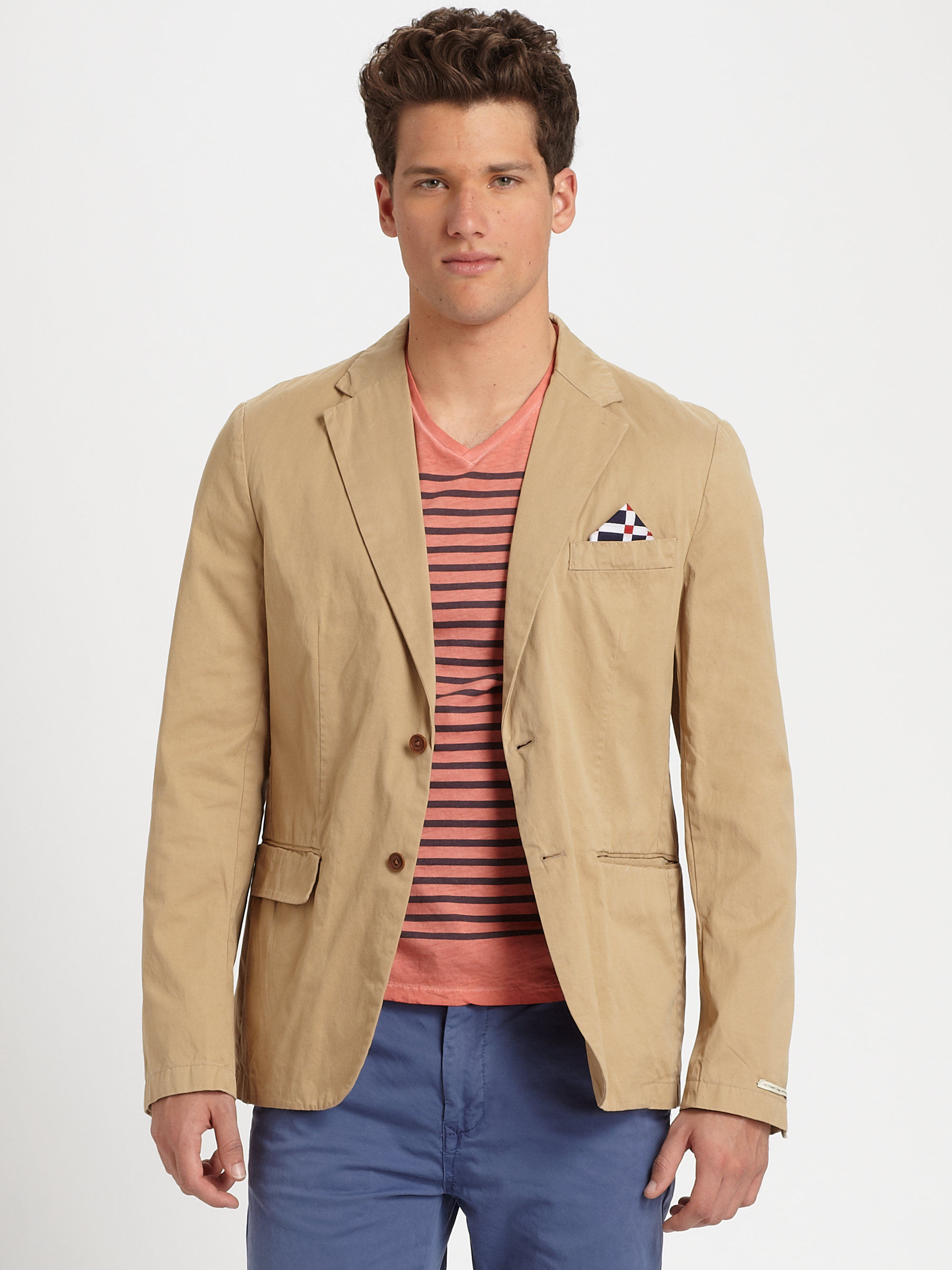 Men LINEN COTTON BLAZER is rated out of 5 by 4. Rated 4 out of 5 by Detroit Mike from Needs a little work Jacket fits ok (for the price, can't complain too /5(4).