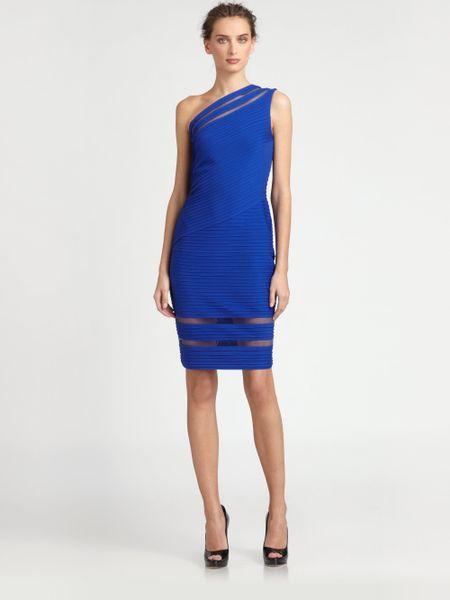 Tadashi Shoji Sleeveless Asymmetrical Pintuck Dress In