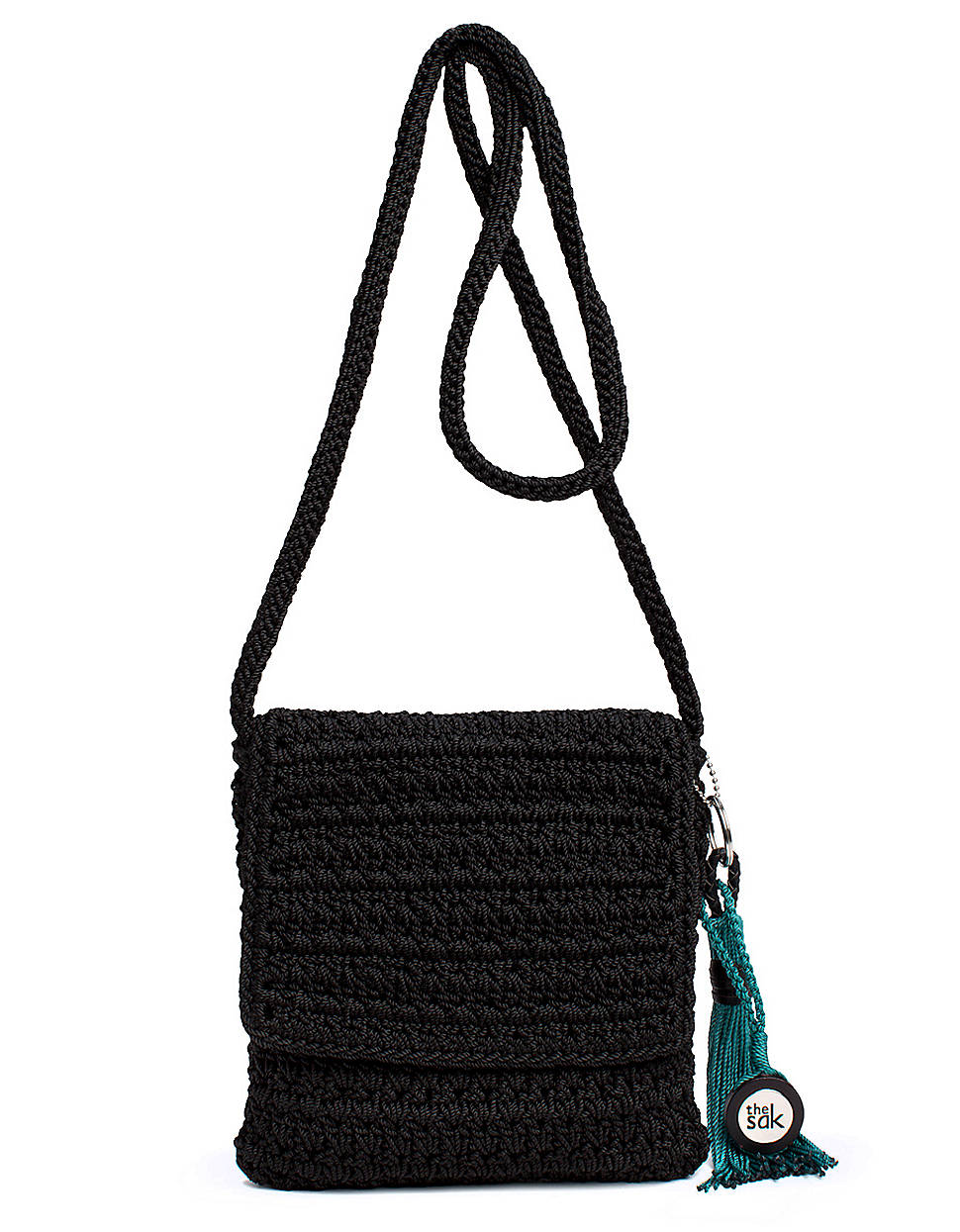 The Sak Black Crochet Handbag : The Sak Casual Classics Crochet Flap Shoulder Bag in Black Lyst