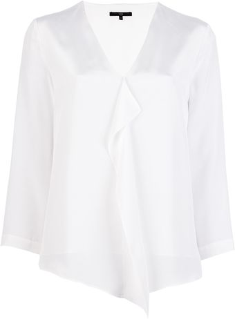 Tibi Draped Blouse - Lyst