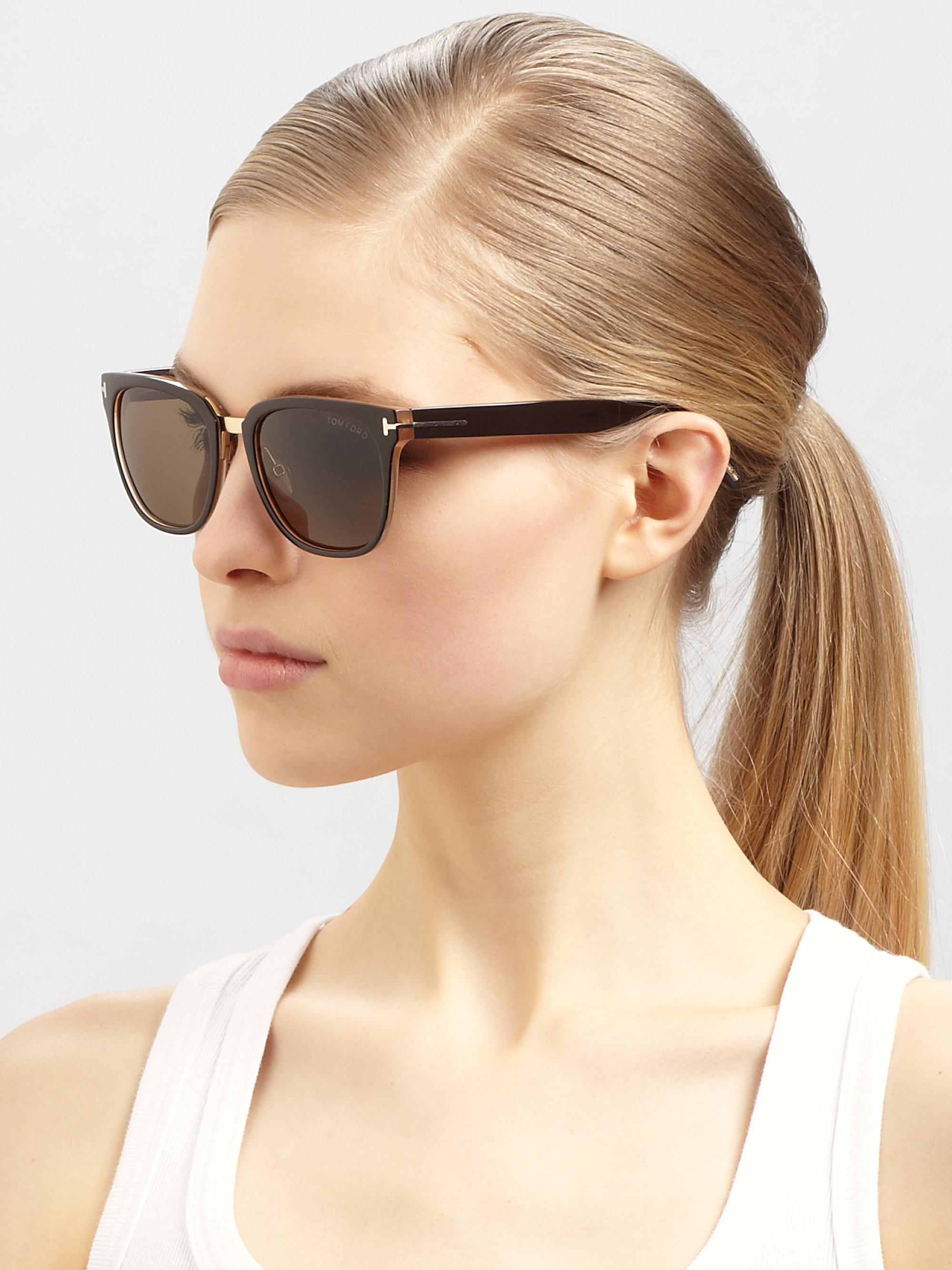 Lyst Tom Ford Rock Acetate Oval Wayfarer Sunglasses In
