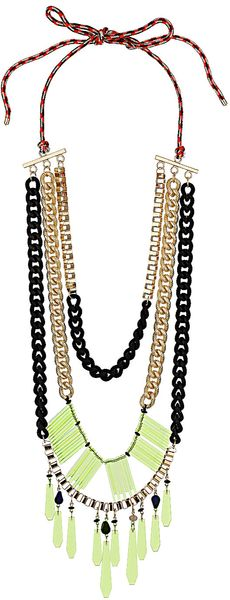 Topshop Mega Mix Media Necklace - Lyst
