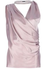 Viktor & Rolf Embellished Draped Blouse