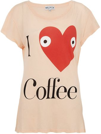 Wildfox I Heart Coffee Tshirt - Lyst
