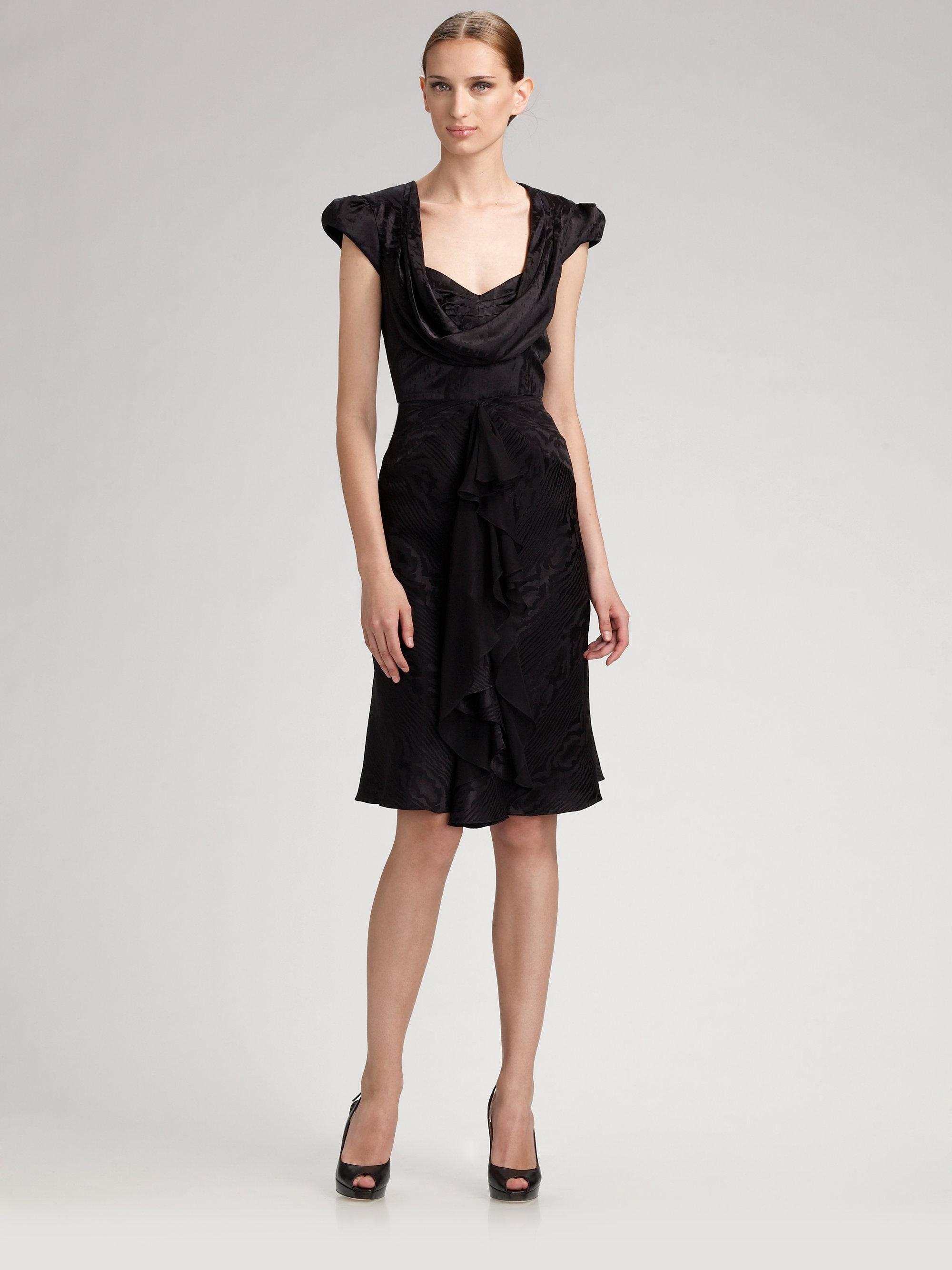 Under Sale Online Zac Posen KnitTrimmed Evening Dress Clearance ...