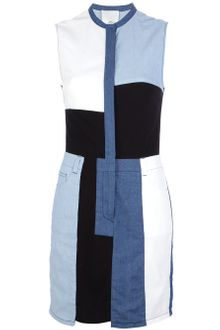 3.1 Phillip Lim Sleeveless Patchwork Denim Dress - Lyst