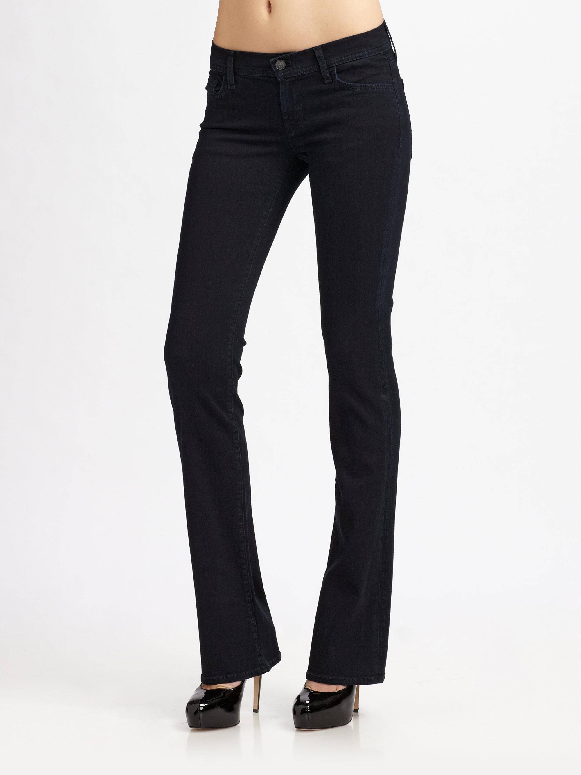 7 for all mankind Rocker Bootcut Jeans in Blue   Lyst