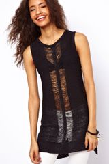 ASOS Collection Long-Line Knitted Vest - Lyst