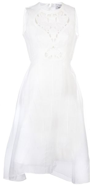 Carven Sleeveless Cotton Dress - Lyst