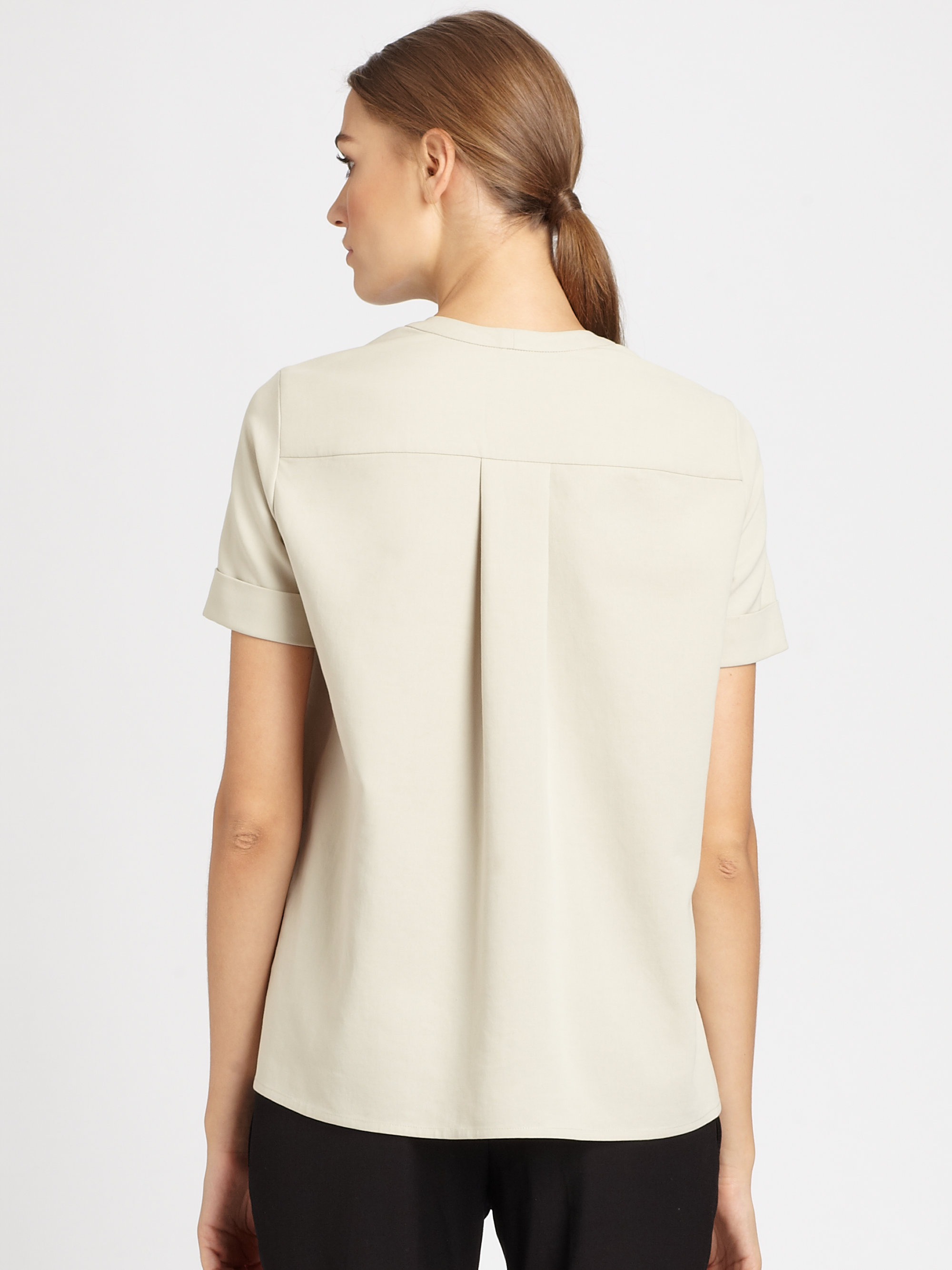 White Tie Back Overshirt Christophe Lemaire Exclusive Free Shipping Countdown Package Buy Cheap Inexpensive Discount Recommend GHqky