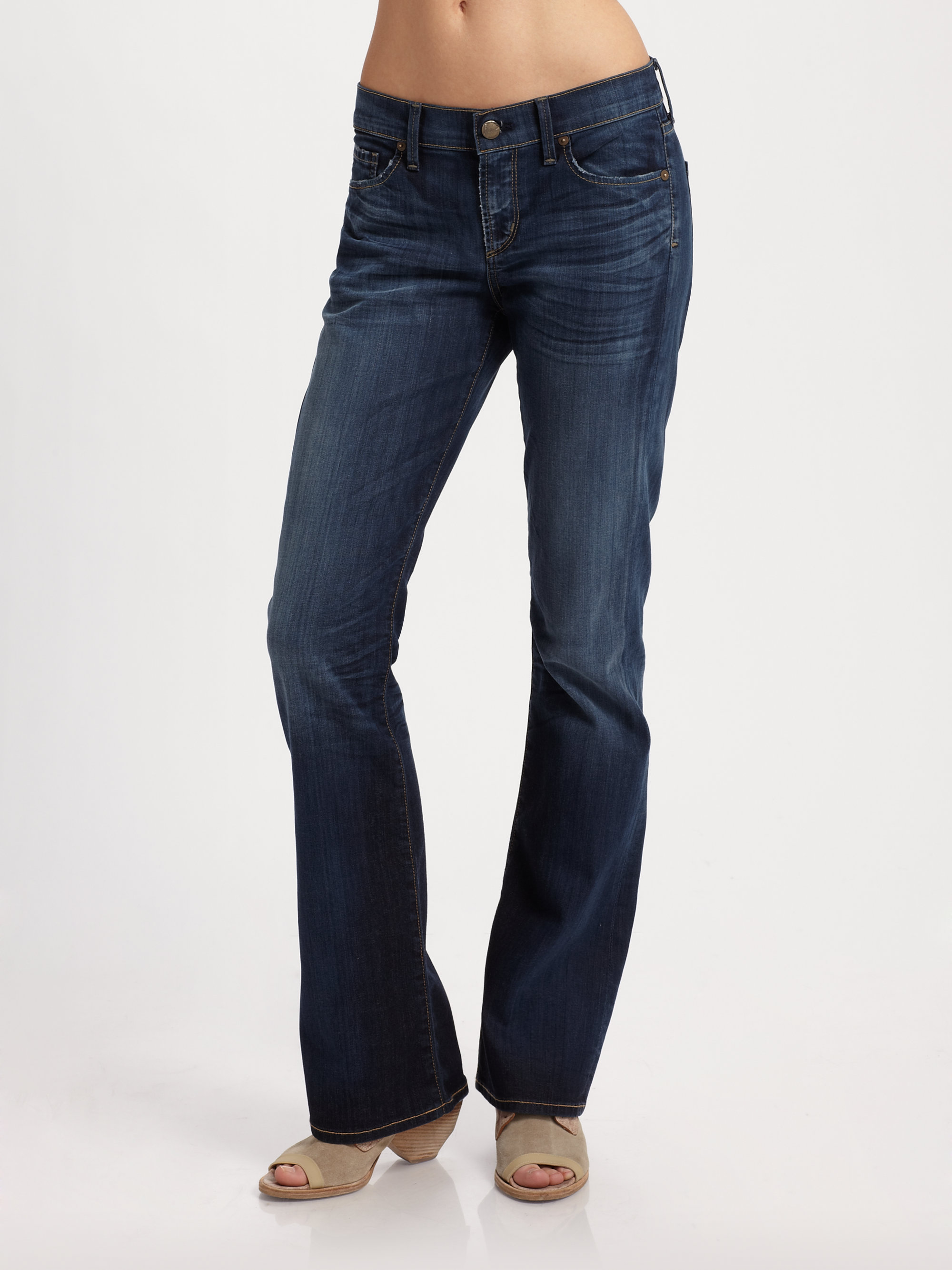citizens of humanity dita petite bootcut jeans in blue oxford lyst. Black Bedroom Furniture Sets. Home Design Ideas