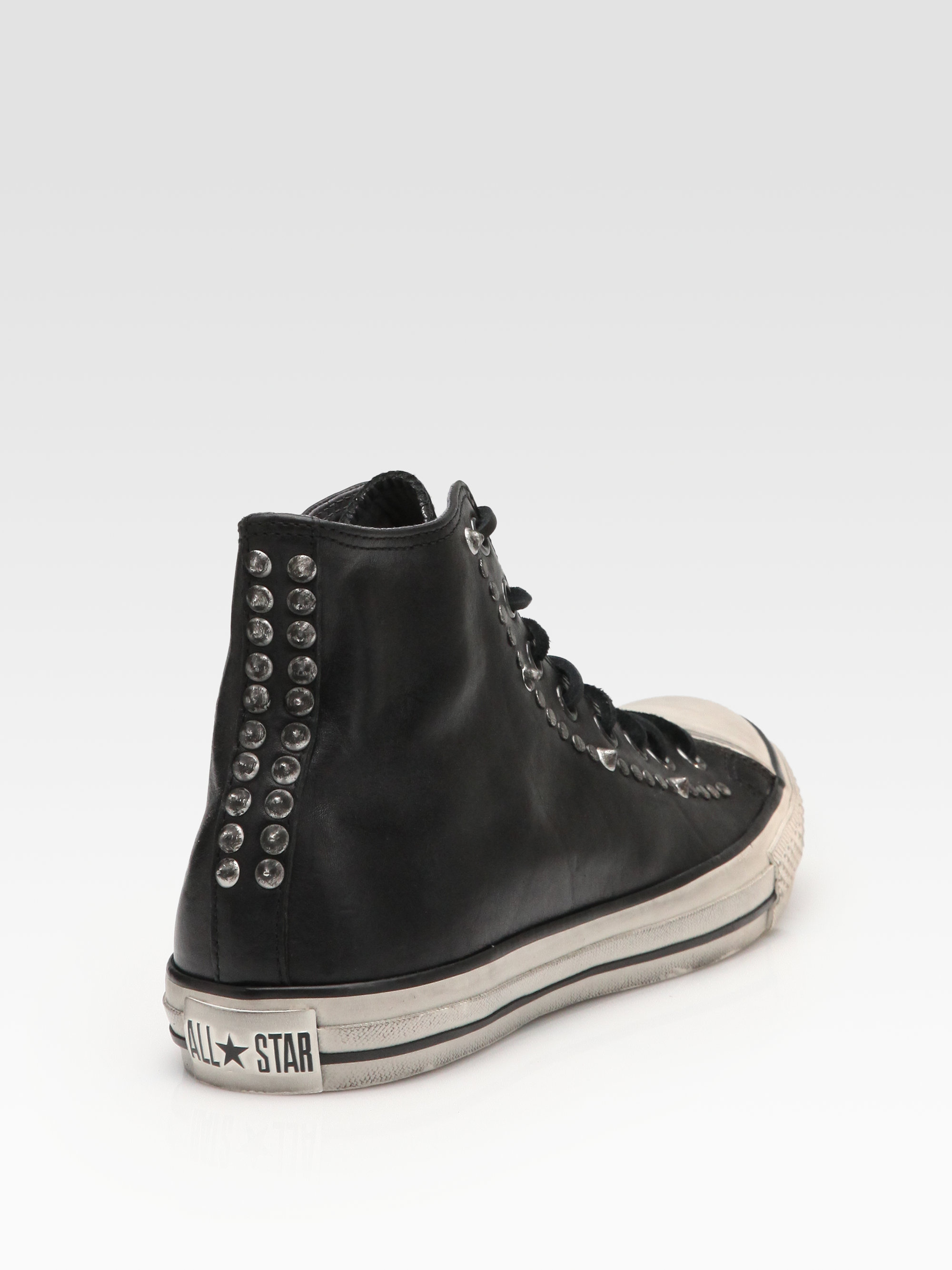 Lyst - Converse John Varvatos Studded Leather High-tops in