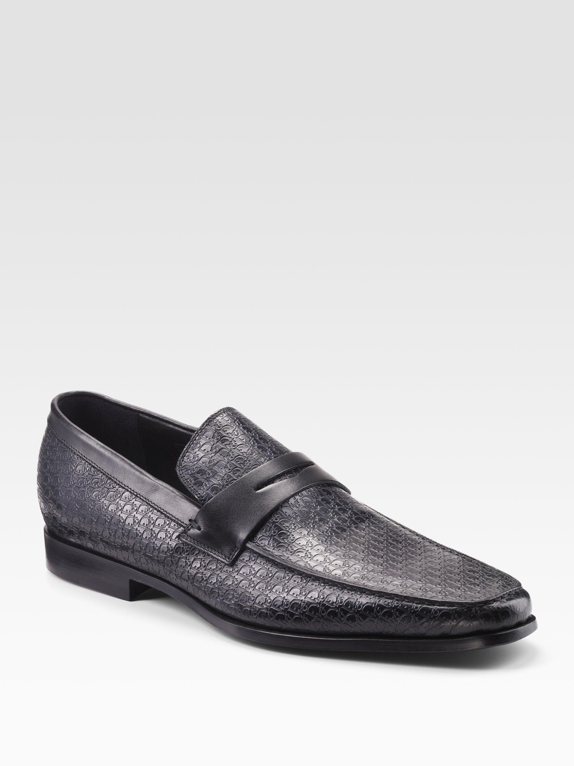 for sale cheap price Dior Men's Black Leather Loafers sale purchase VkJ91SjG0j