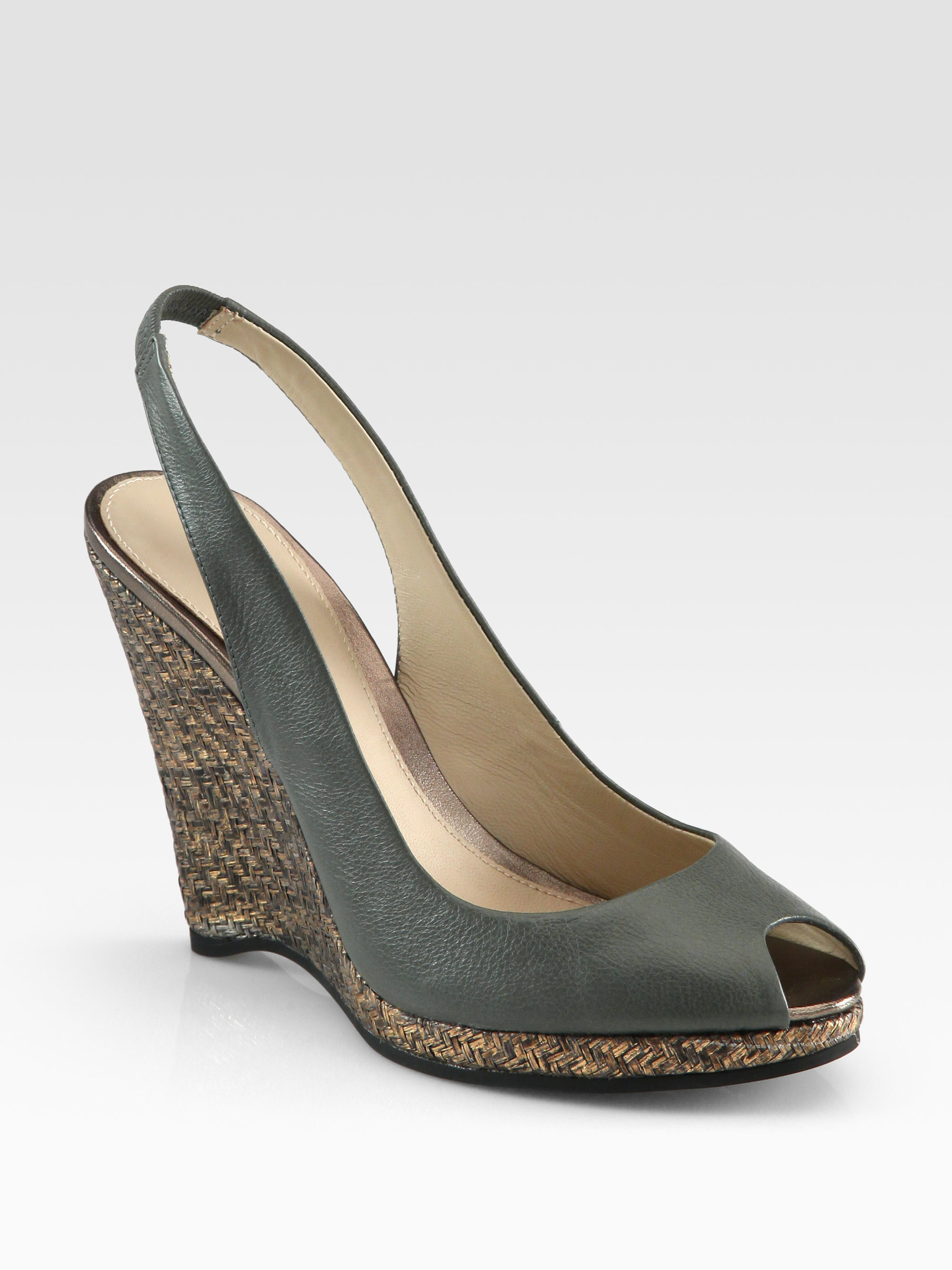 buy cheap low shipping fee Elie Tahari Metallic Wedge Sandals buy cheap ebay discount genuine shopping online outlet sale o5HcJidqH5