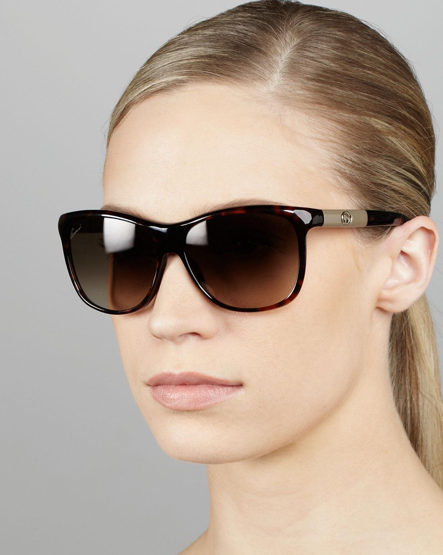 9998e29c4e Lyst - Gucci Gradient Havana Sunglasses in Brown