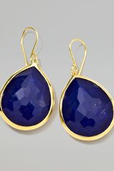 Ippolita 18k Gold Rock Candy Large Lapis Teardrop Earrings - Lyst