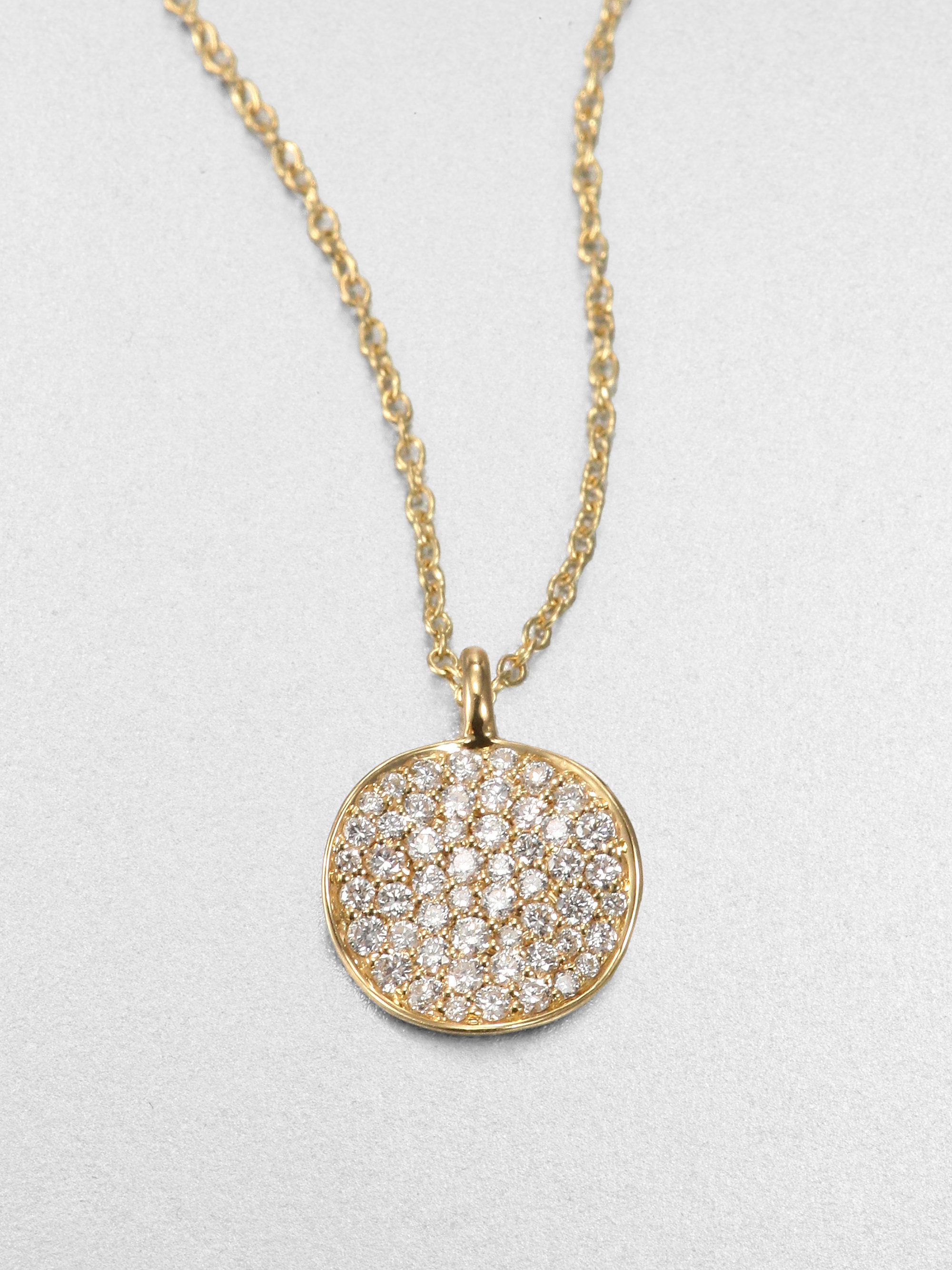 ippolita stardust 18k yellow gold disc pendant