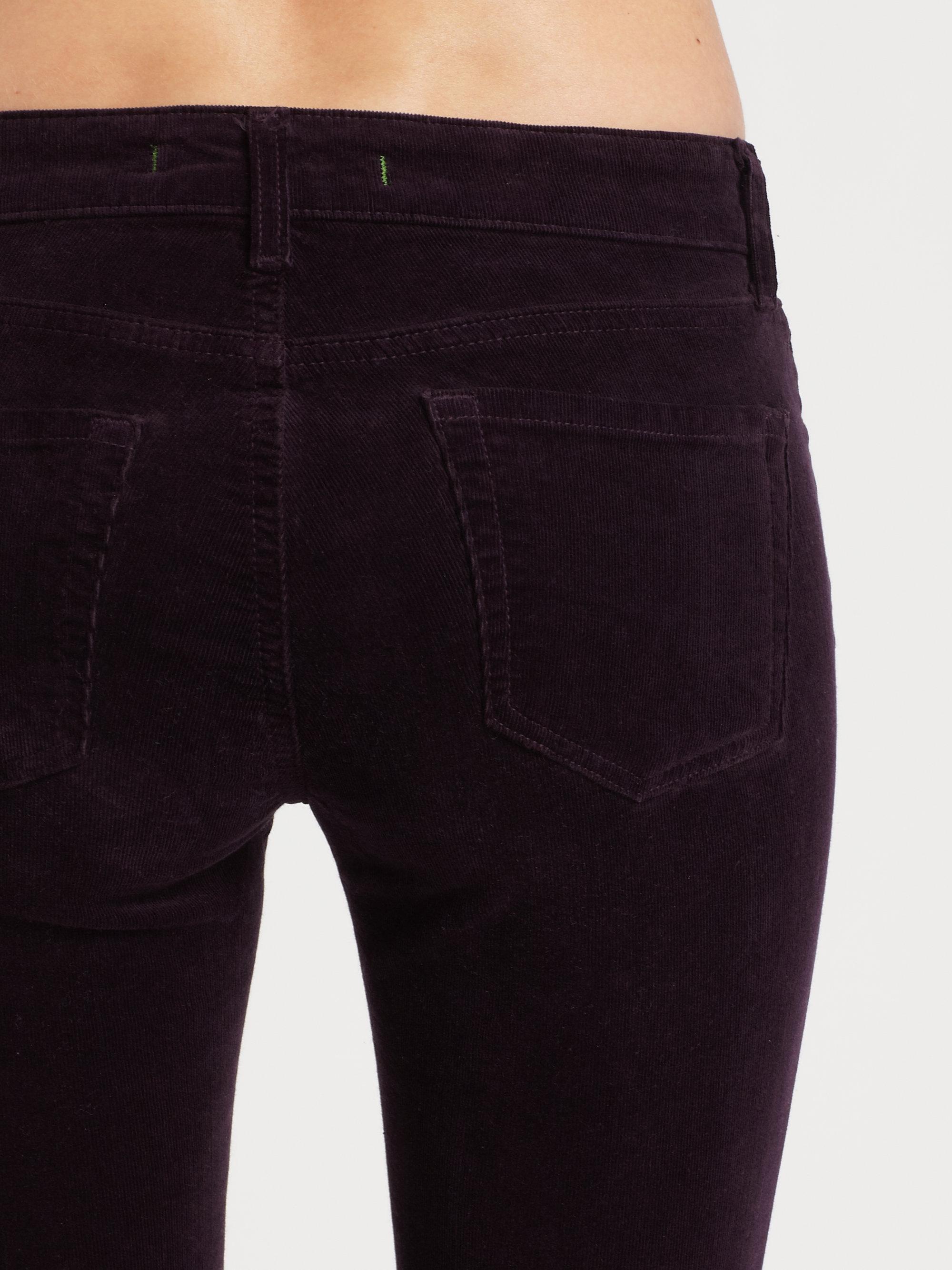 J brand Lowrise Corduroy Skinny Jeans in Black   Lyst