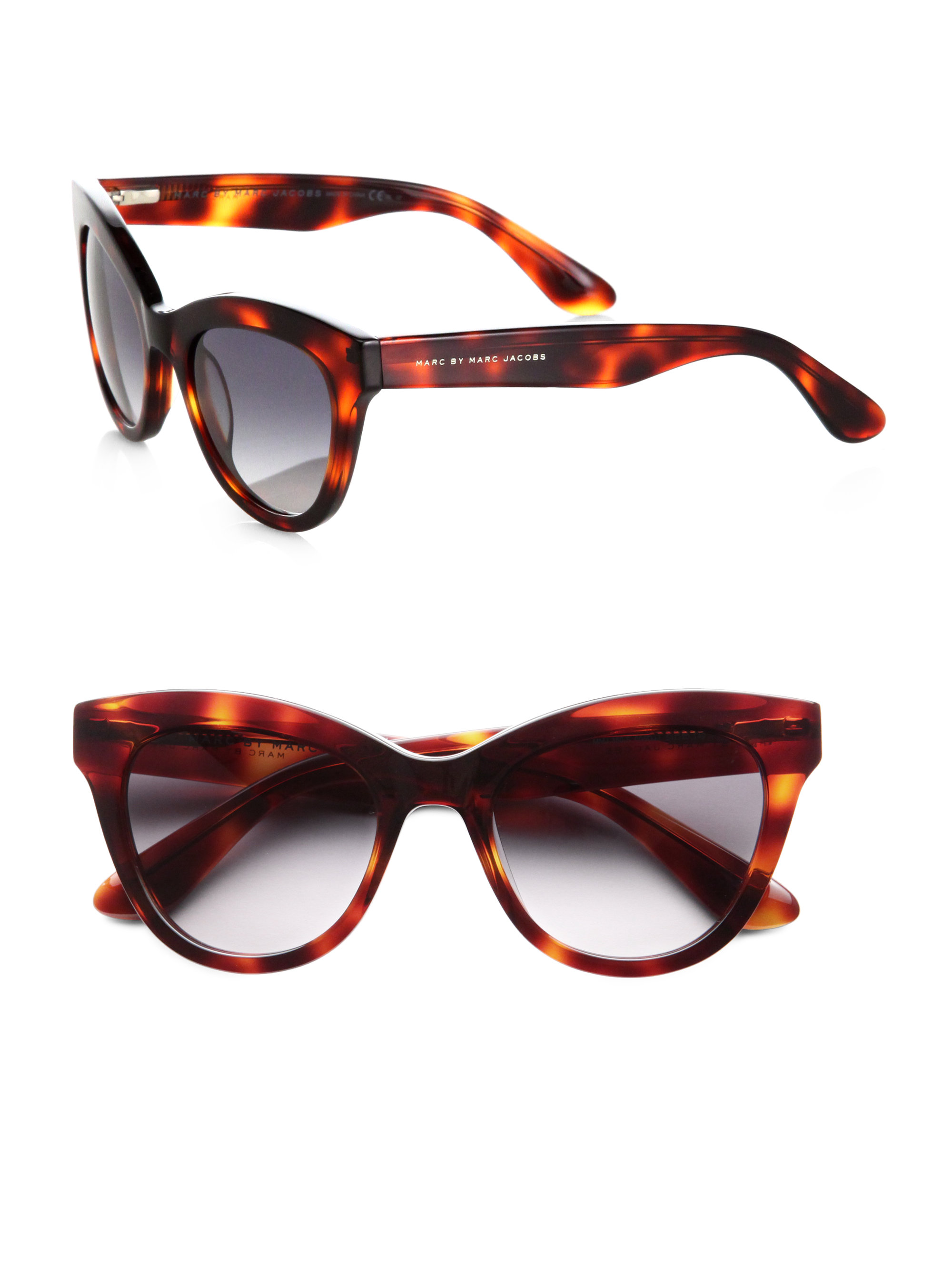 Marc By Jacobs Laukku : Marc by jacobs cat s eye acetate sunglasses in brown