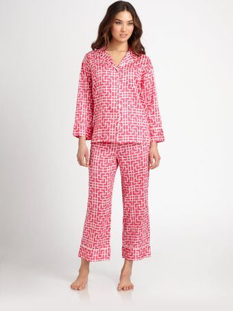 Natori Essence Printed Pajama Set - Lyst