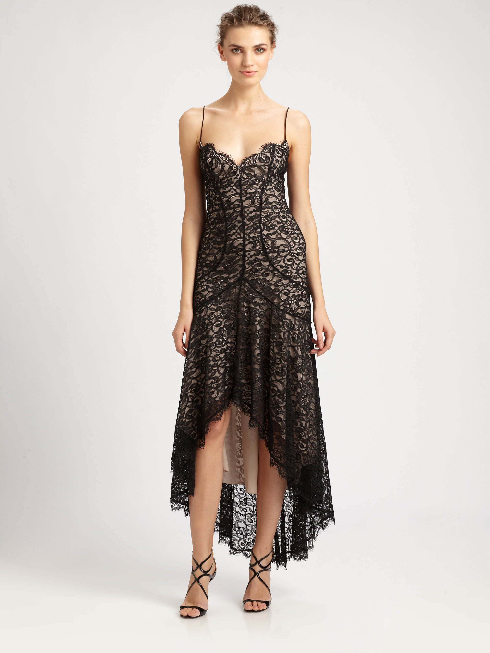 Nicole miller Hilo Lace Dress in Black | Lyst