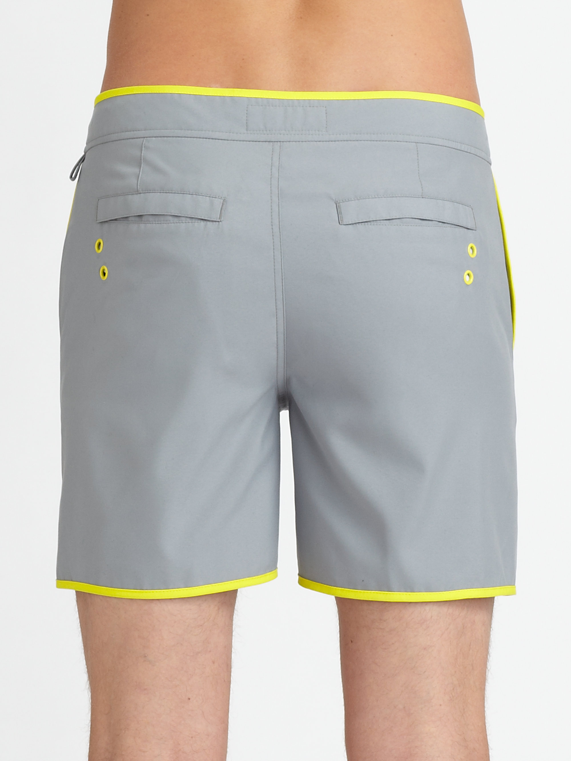 6e4179fe75 Original Penguin Earl Volley Swim Trunks in Gray for Men - Lyst