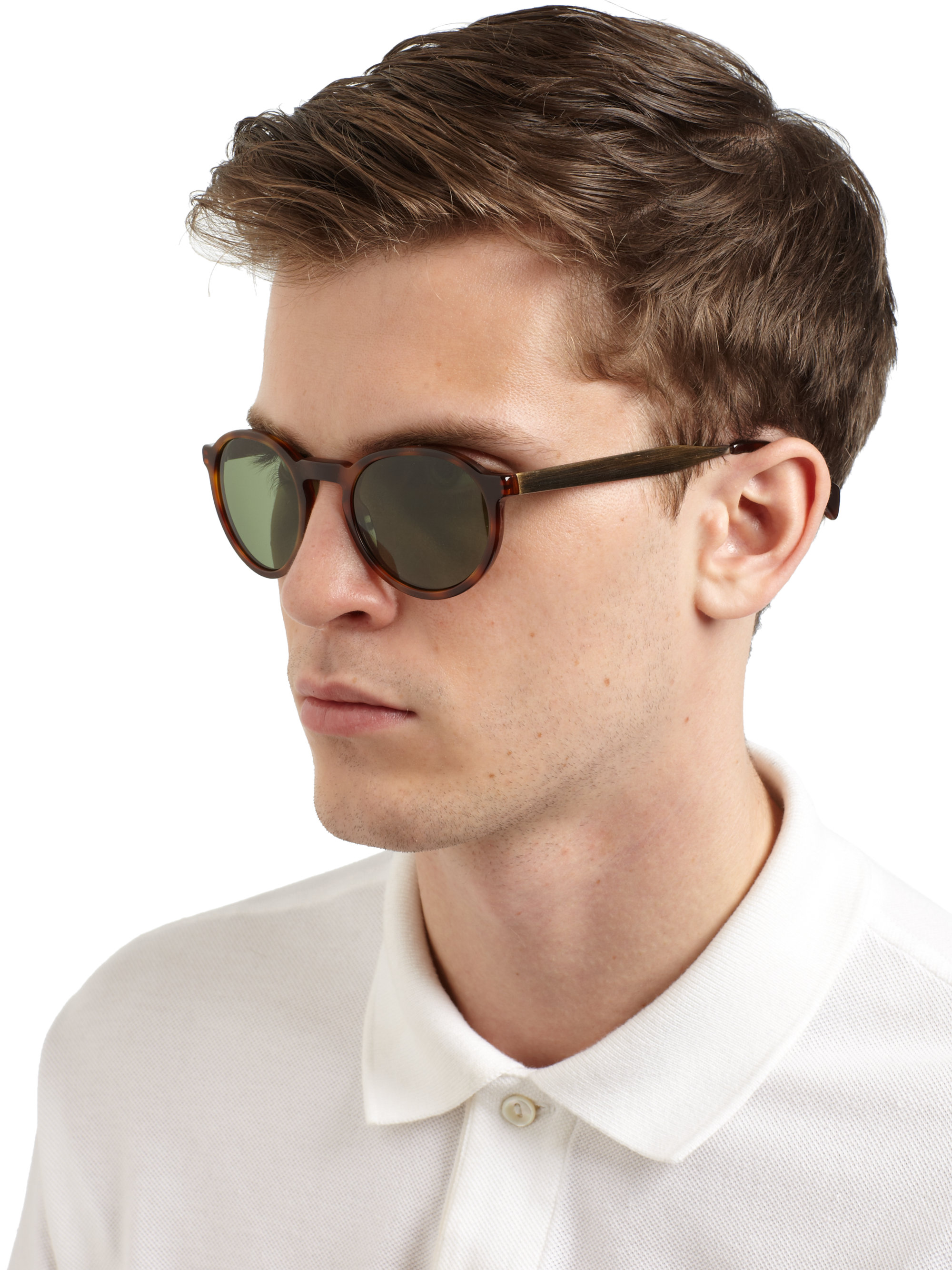 60b4848a3f3a6 Paul Smith Elson Round Sunglasses in Green - Lyst