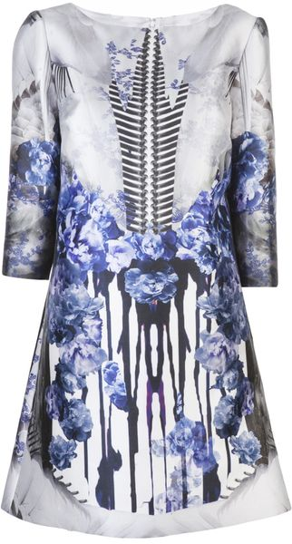 Prabal Gurung Mixed Print Dress - Lyst