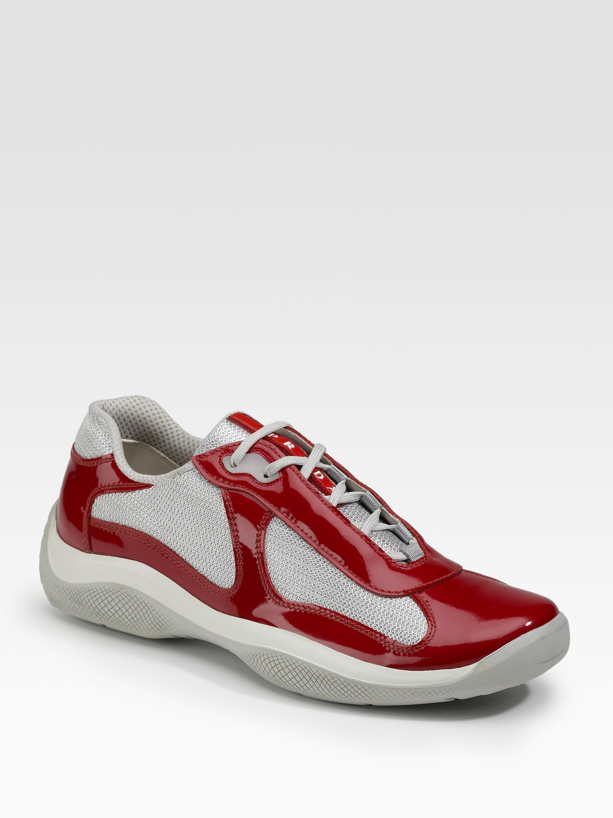 Men For In Sneakers Prada Lyst Patent Red 2eIWEHYbD9
