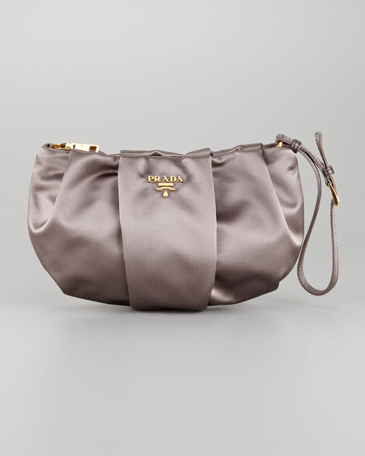 05fae2b85761 Lyst - Prada Satin Wristlet in Purple