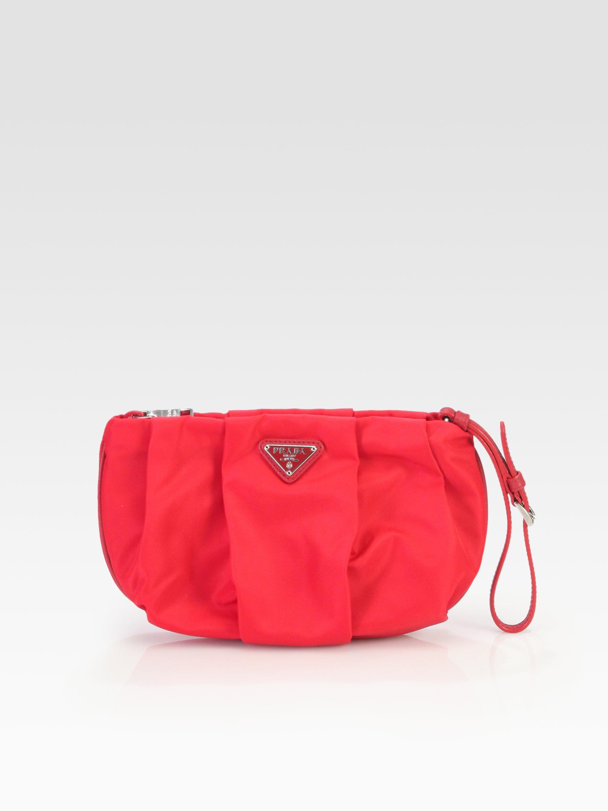 Red Vela pouch Prada bVU9Z