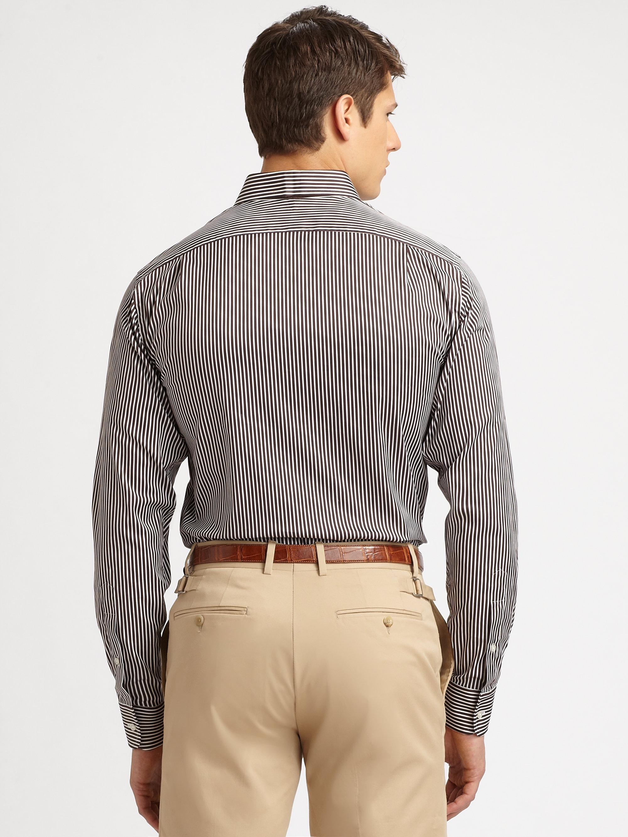 Lyst Ralph Lauren Black Label Striped Dress Shirt In