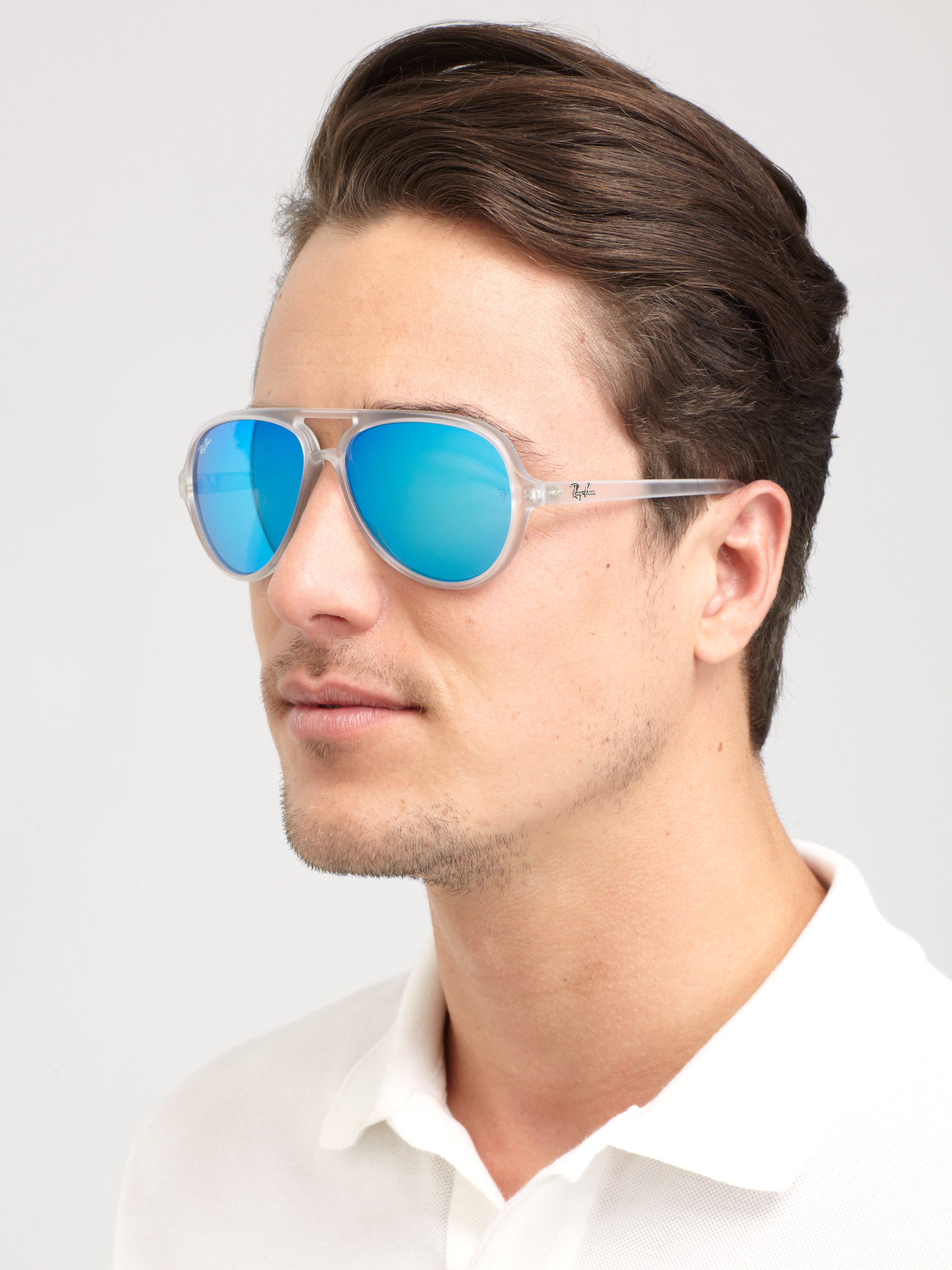 dcb647a37ee3 ... purchase lyst ray ban plastic boyfriend aviators for men 3c279 1be80