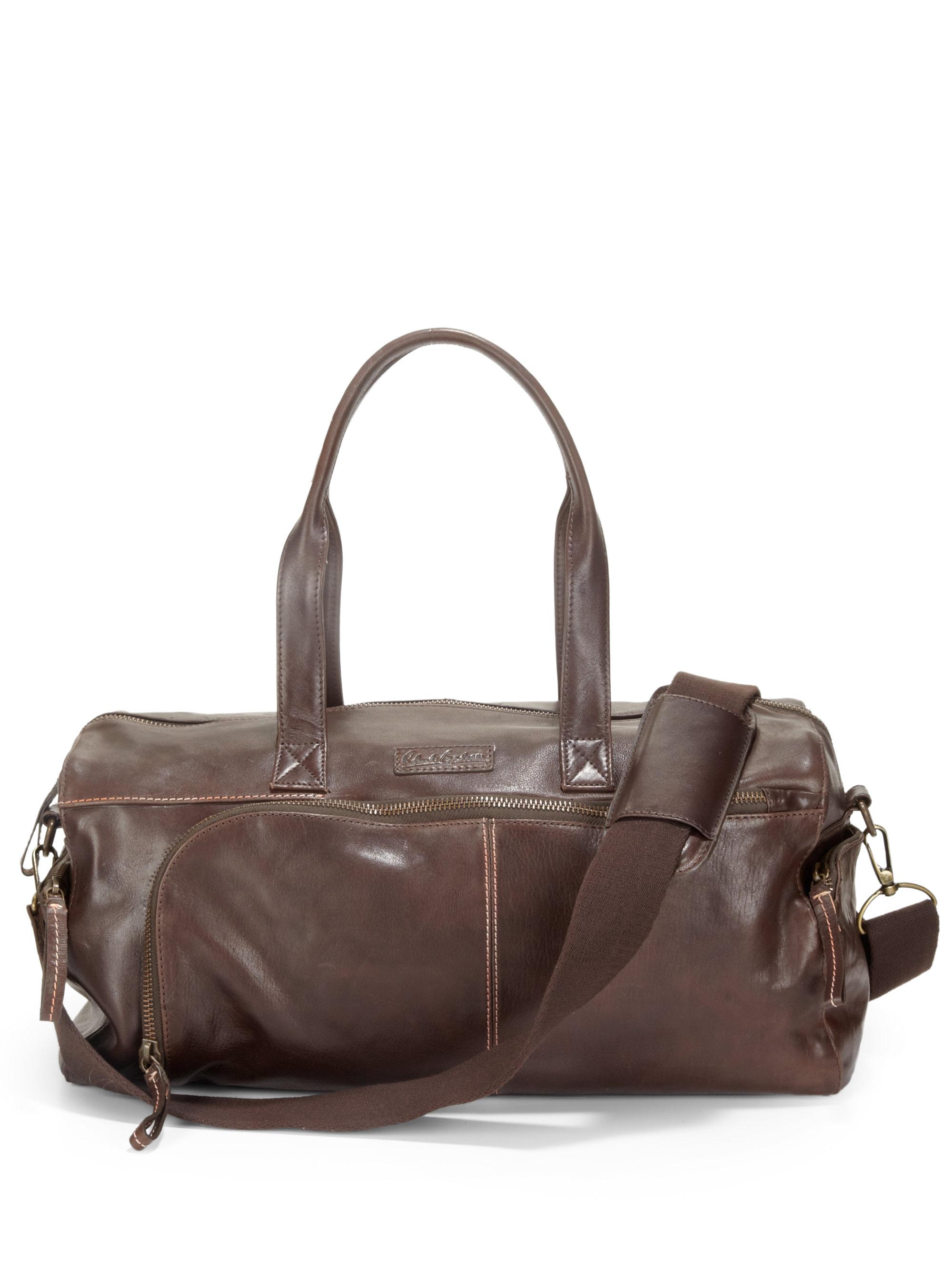 Robert graham Leather Duffel Bag in Brown for Men