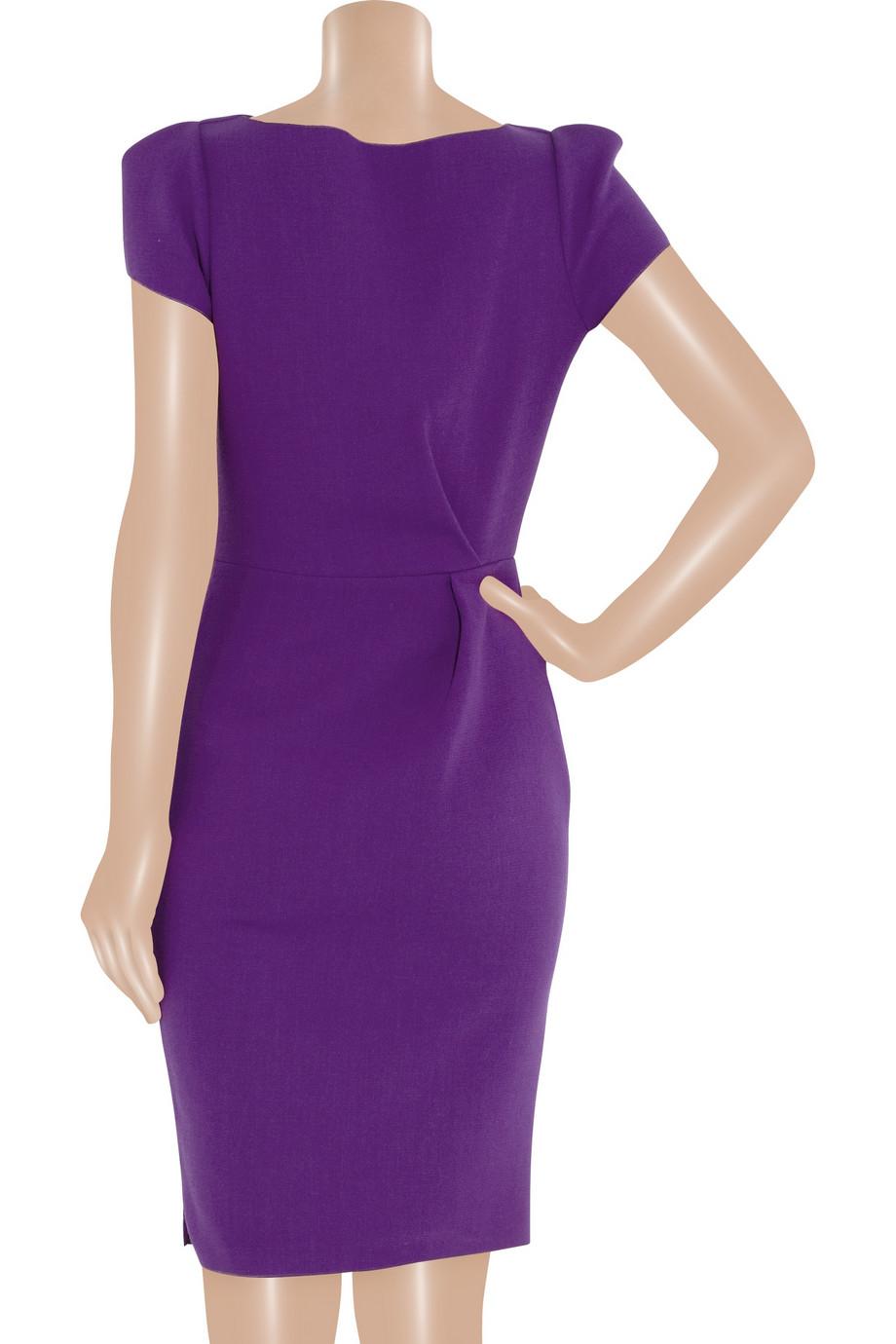 Lyst Roksanda Ayden Woolcrepe Dress In Purple
