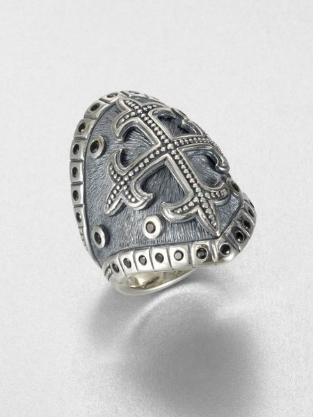 Scott Kay Sterling Silver Cross Ring In Silver For Men