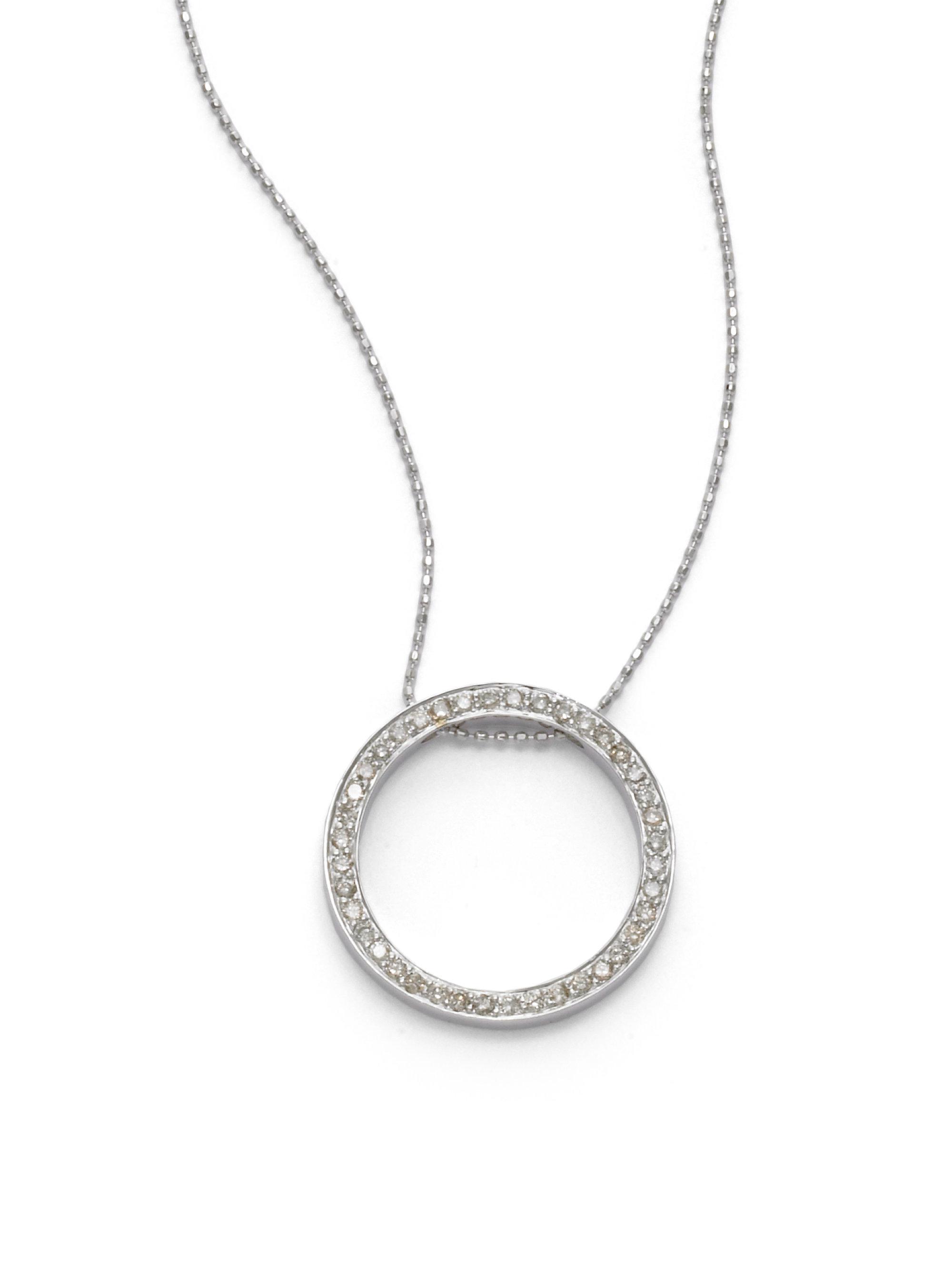 lyst sydney evan diamond eternity circle pendant. Black Bedroom Furniture Sets. Home Design Ideas