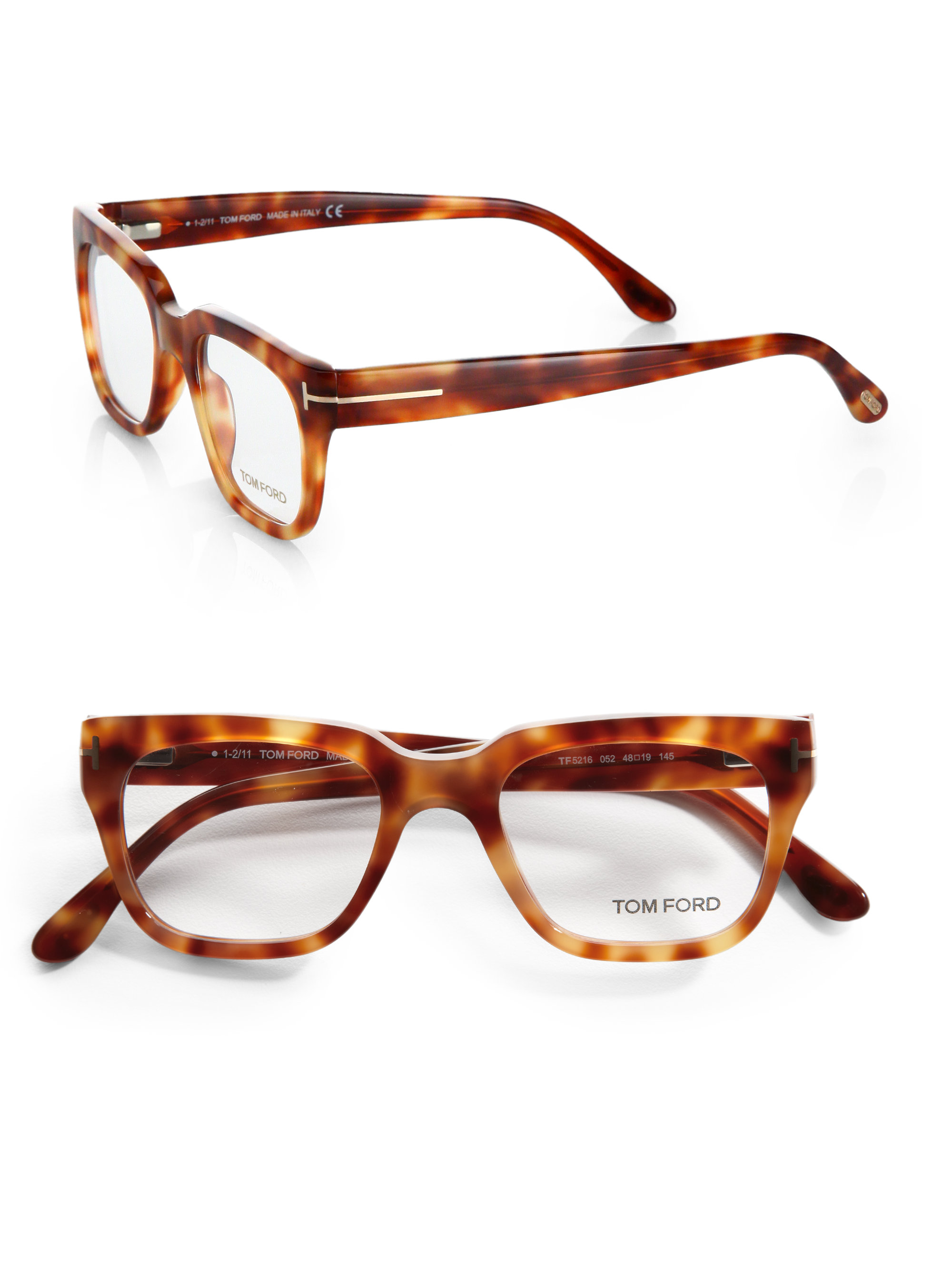 Tom ford Plastic Optical Frames in Brown for Men Lyst