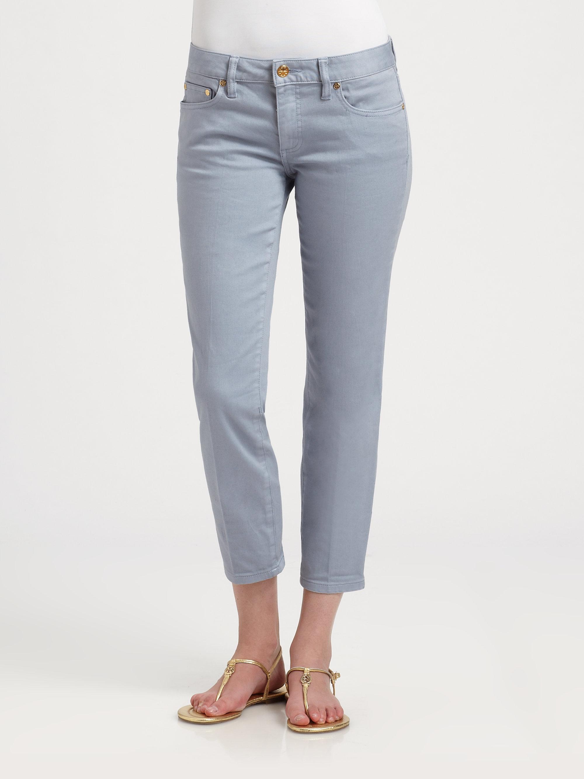 Tory burch alexa cropped skinny jeans