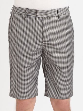 Yigal Azrouel Check Shorts - Lyst
