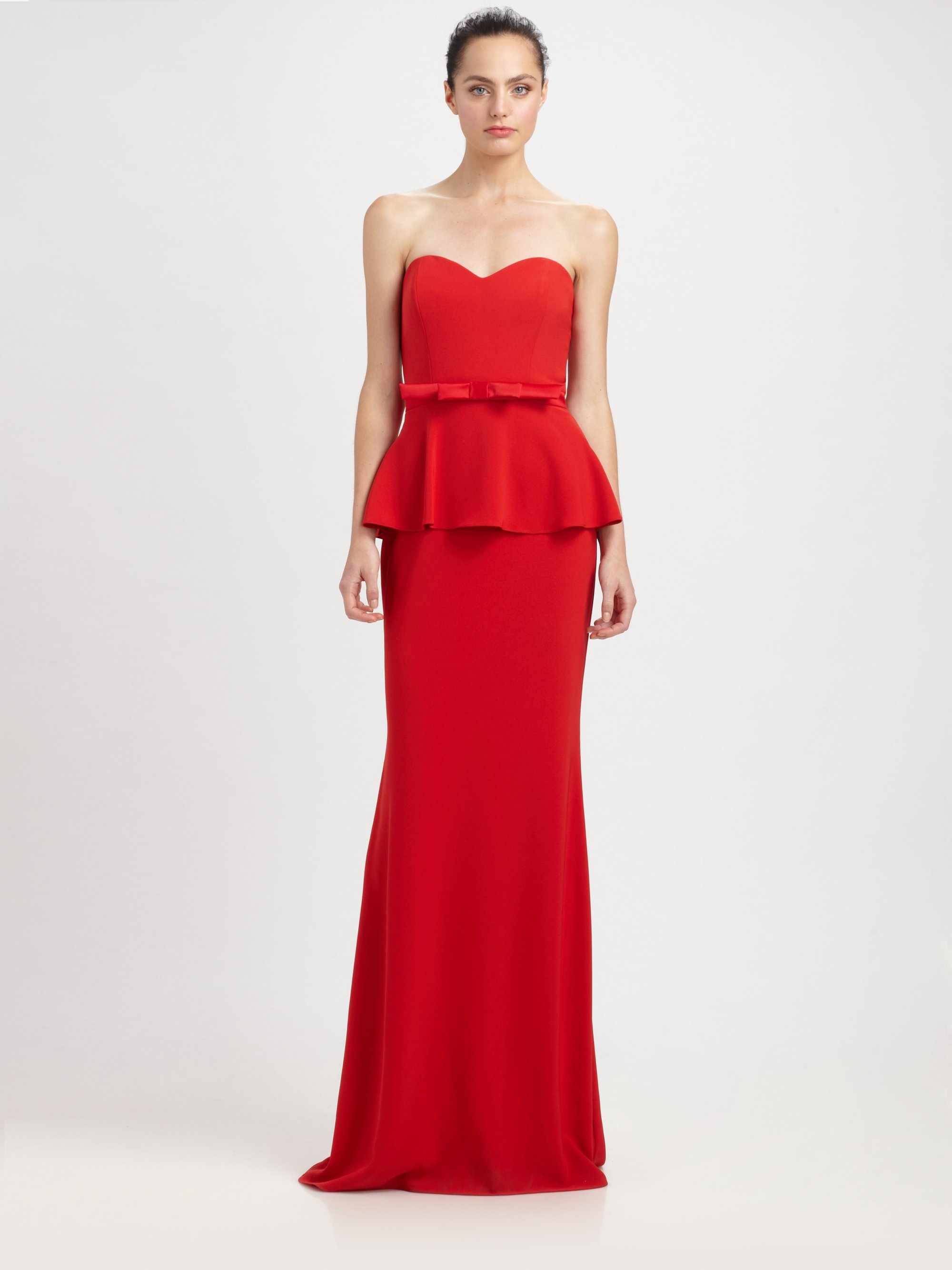 Colorful Badgley Mischka Rosalind Peplum Gown Gallery - Wedding and ...