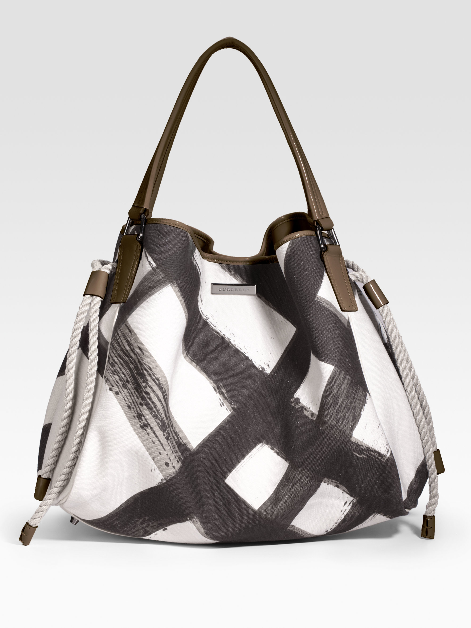 319648a6996 Lyst - Burberry Large Summer Canvas Tote in White
