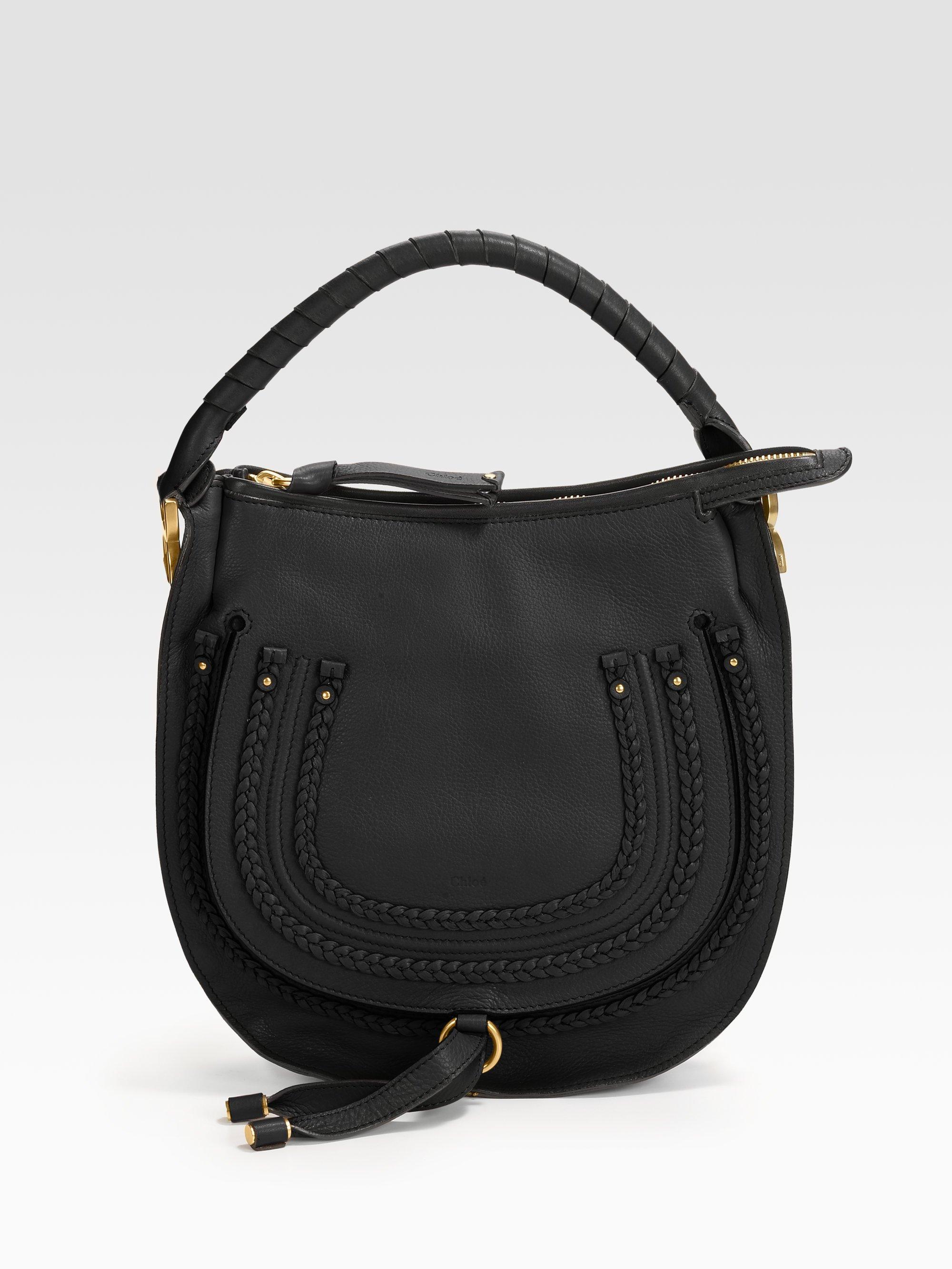 Lyst - Chloé Marcie Small Braided Hobo in Black 6457842058