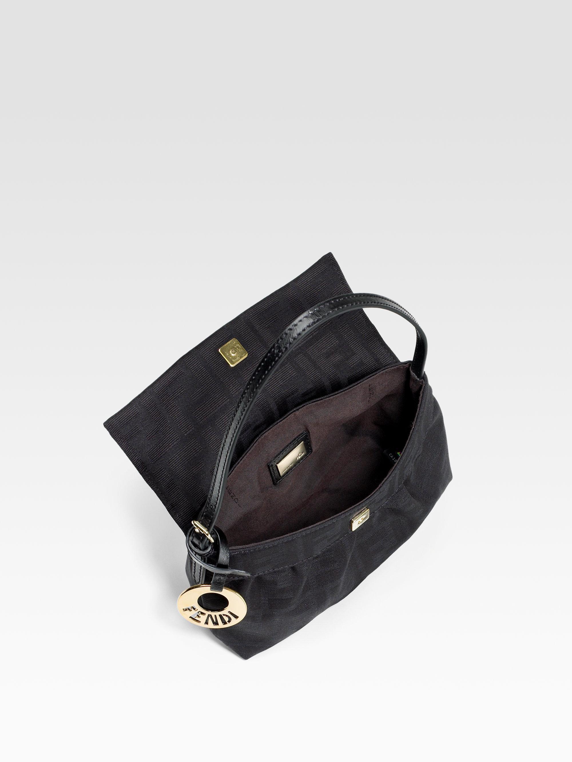 e7af2cb4425 ... clearance fendi mini chef zucca shoulder bag in black lyst 56b23 c4e3b