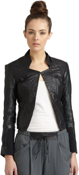 Improvd Leather Jacket black - Lyst