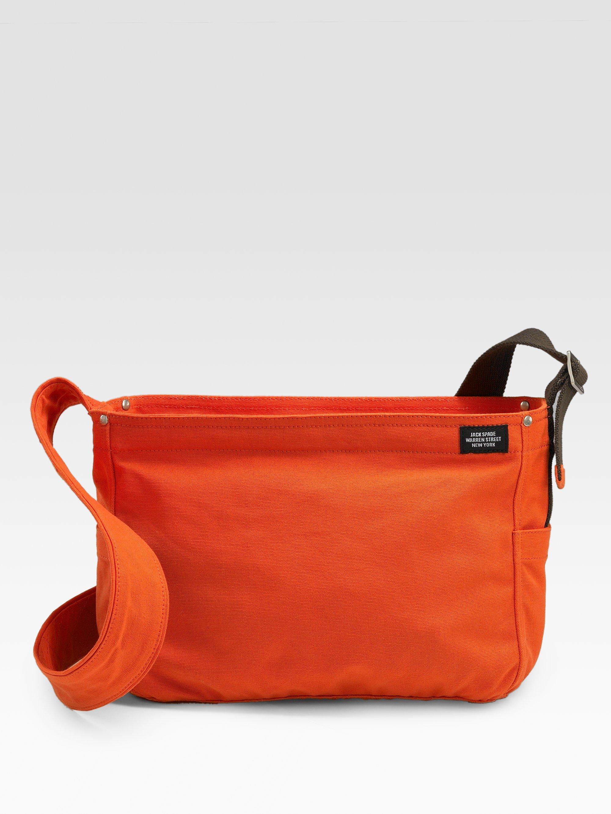 Jack spade Lightweight Canvas Messenger Bag in Orange for Men | Lyst