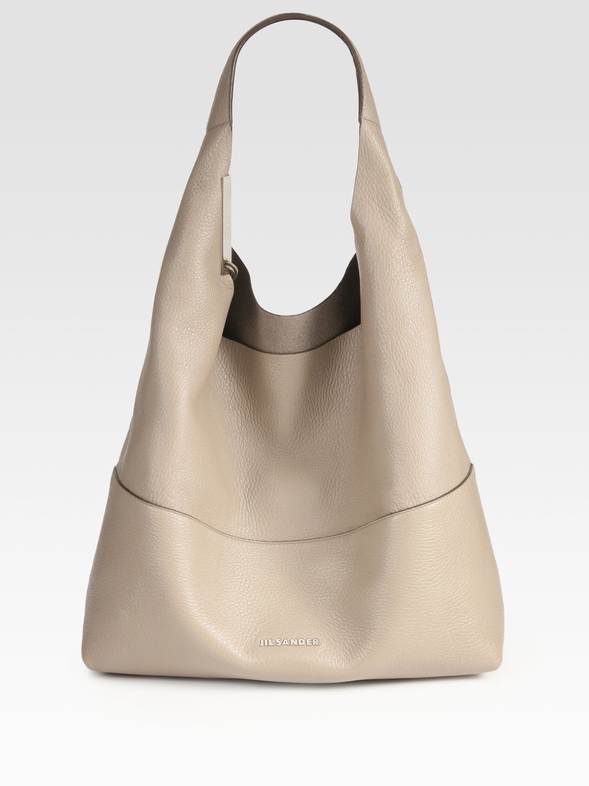 Jil sander Soft Shoulder Hobo in Natural | Lyst