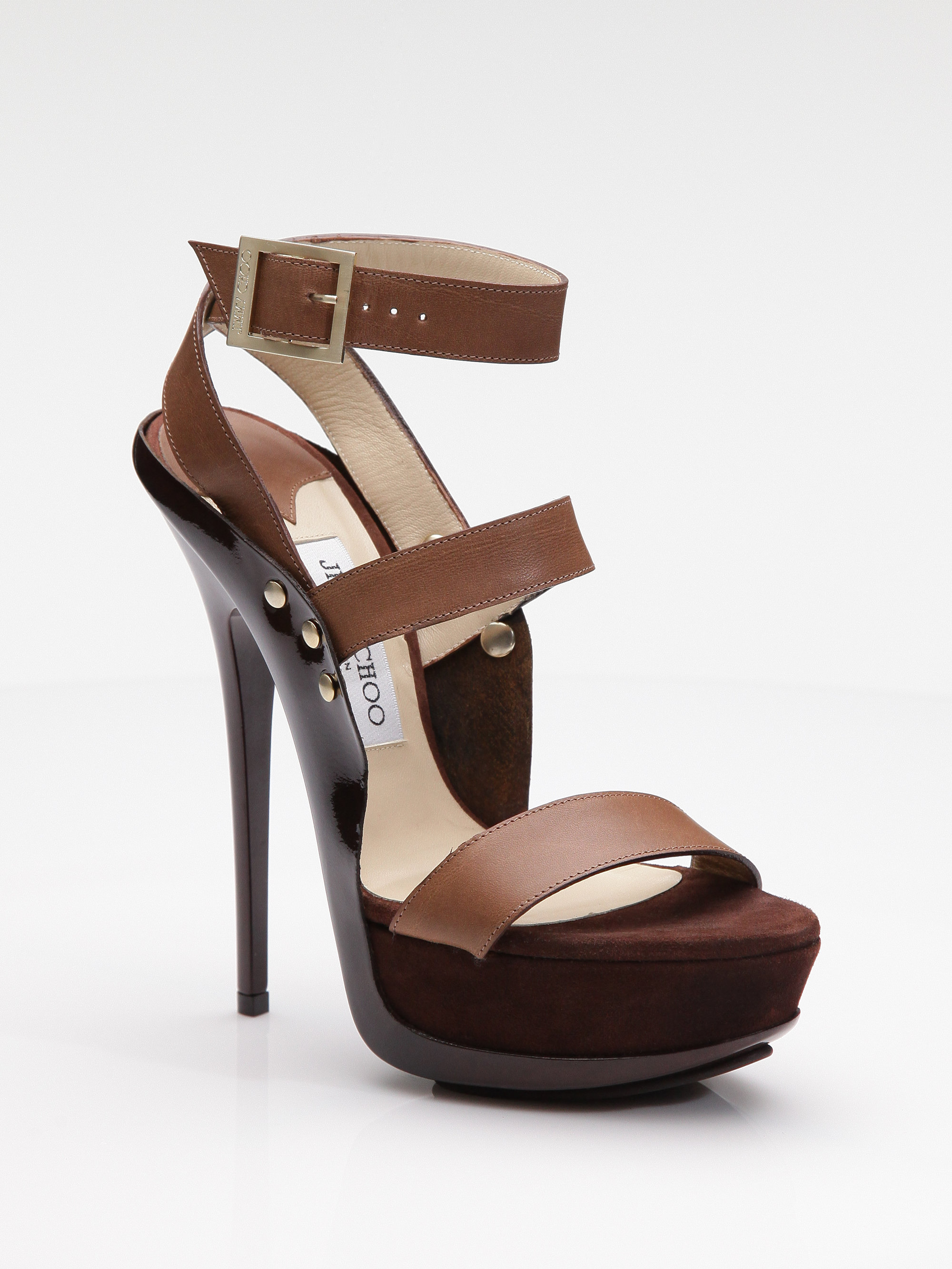 e2d05e02a2b88b Lyst - Jimmy Choo Halley Platform Sandals in Brown