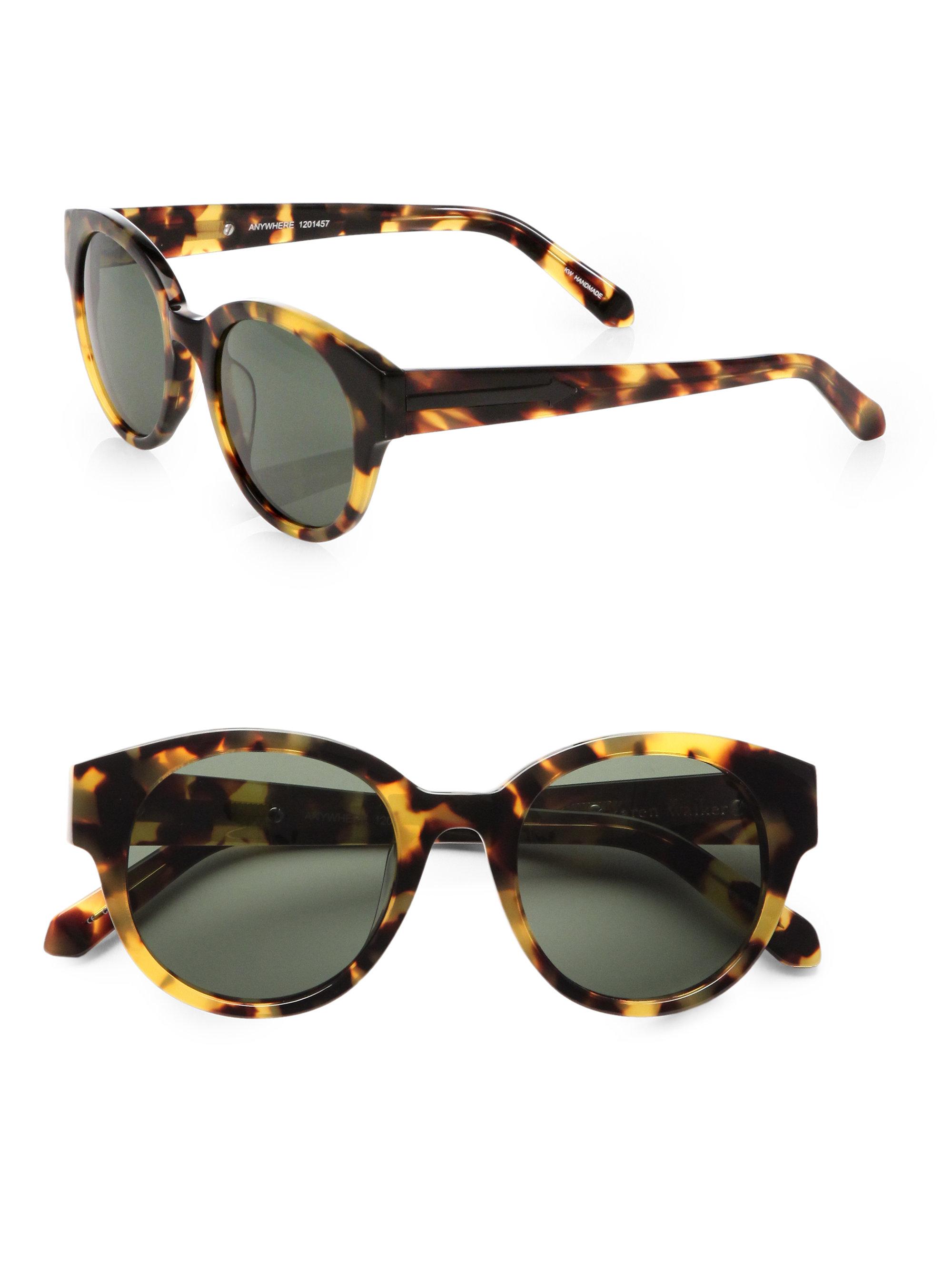 48208d90de19 Lyst - Karen Walker Anywhere Round Sunglasses tortoise